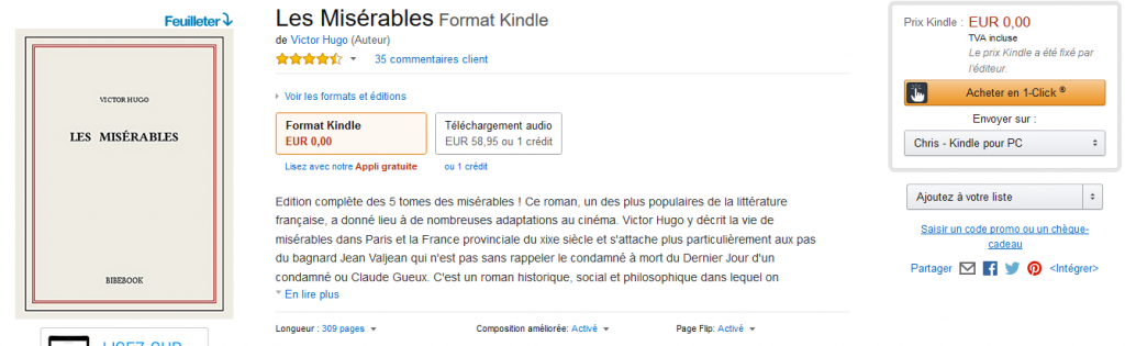 livres en version kindle